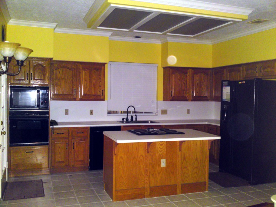 Before Natural Cherry · Natural Cherry Kitchen Cabinets