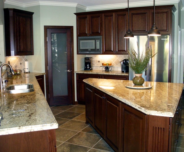 regal cherry custom kitchen cabinets. Black Bedroom Furniture Sets. Home Design Ideas